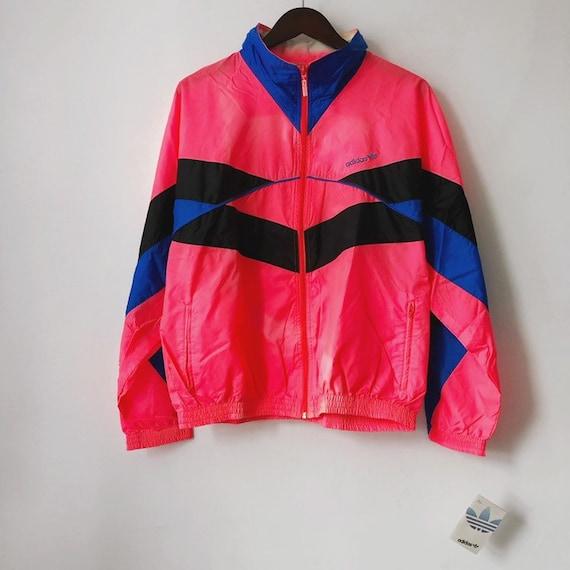 vintage adidas windbreaker jacket mens size medium deadstock NWT 80s