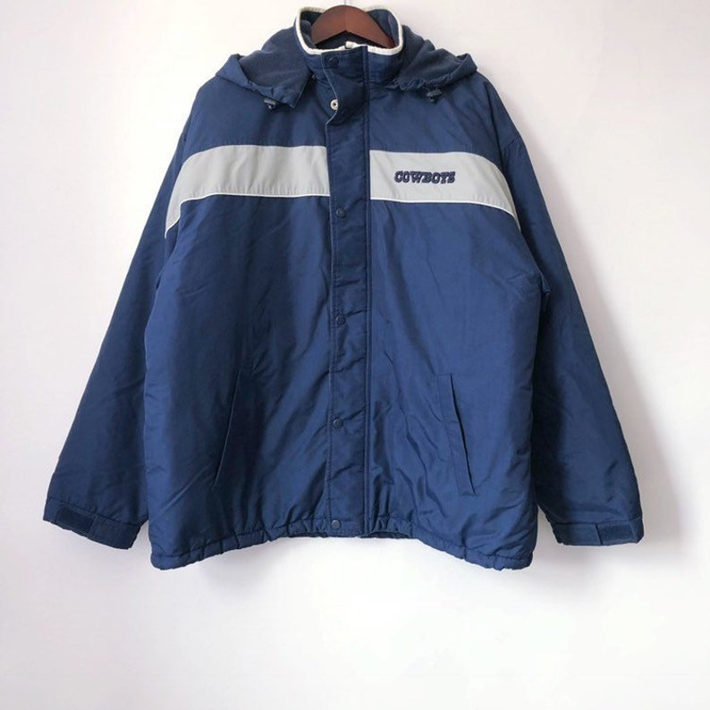 meet ee011 256ea vintage dallas cowboys starter style spotlight jacket mens size XL 90s