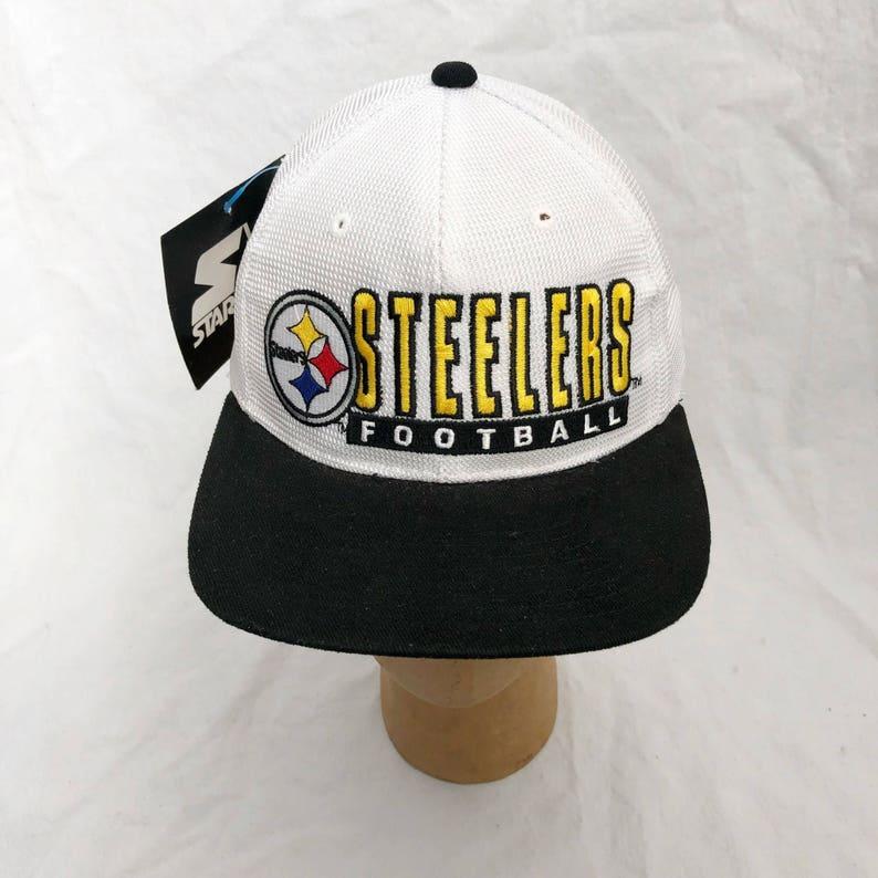 f1ba68a8bd3 Vintage pittsburgh steelers starter mesh snapback hat adult