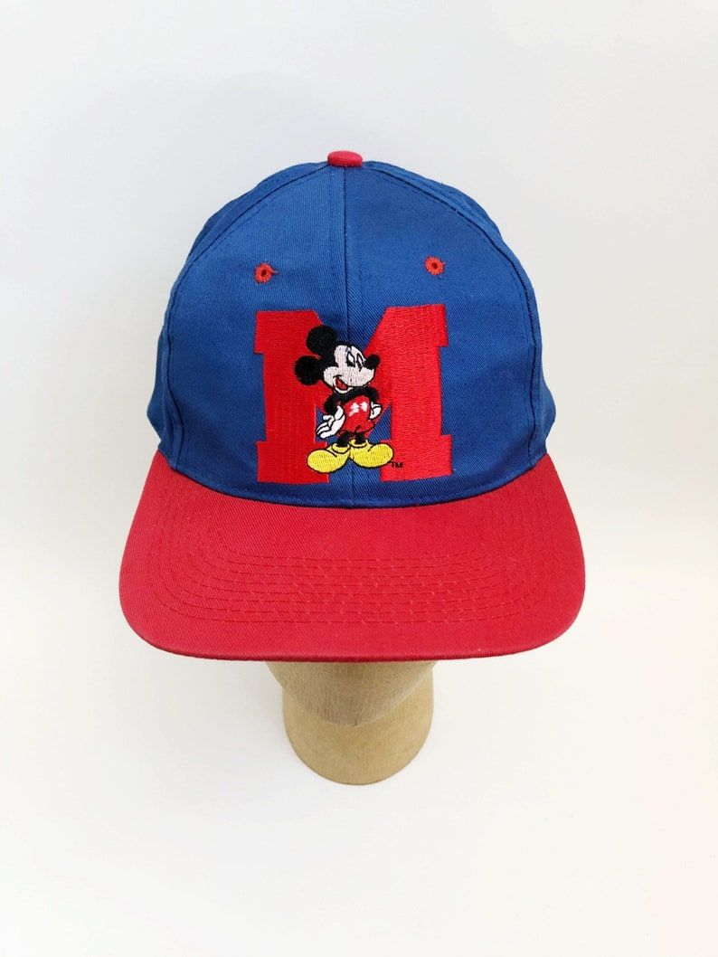 san francisco ea57f 5c9e7 Vintage mickey mouse snapback hat drew pearson adult OSFA 90s   Etsy
