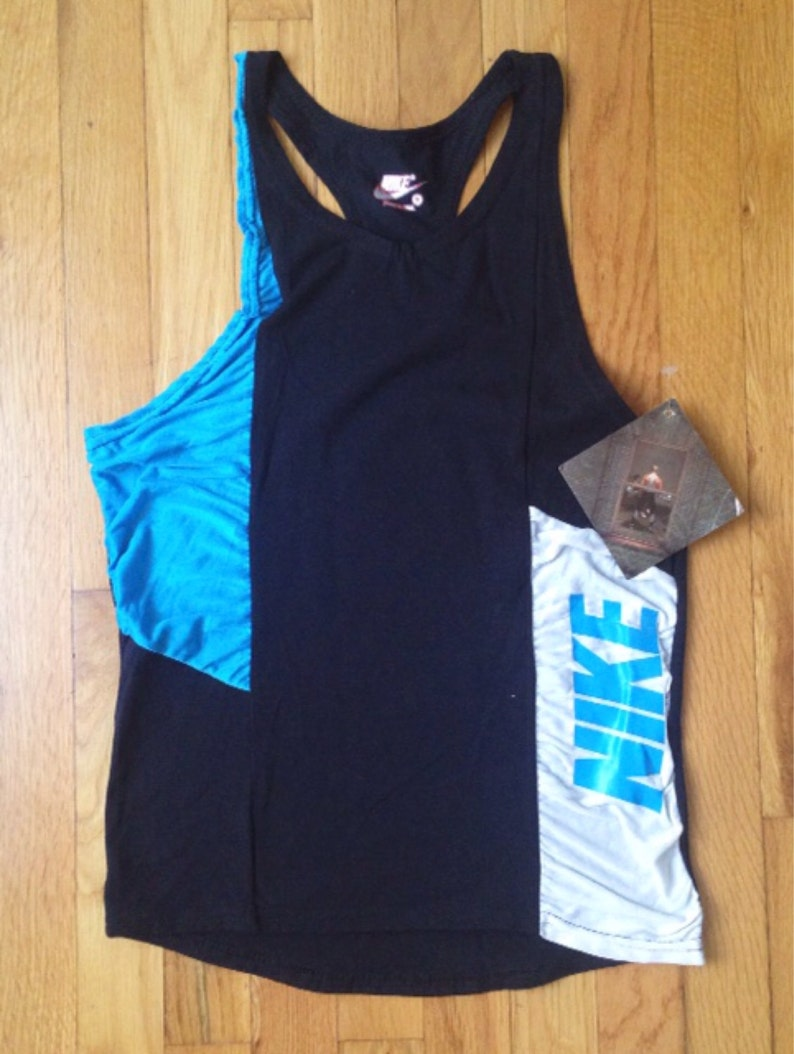 f05a21da8c0f0 vintage nike fitness line tank mens size small deadstock NWT 90s made in USA