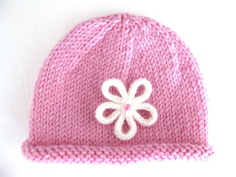 6d8dcd19652 PATTERN Knitted PREEMIE and NEWBORN Rolled Brim Hat with