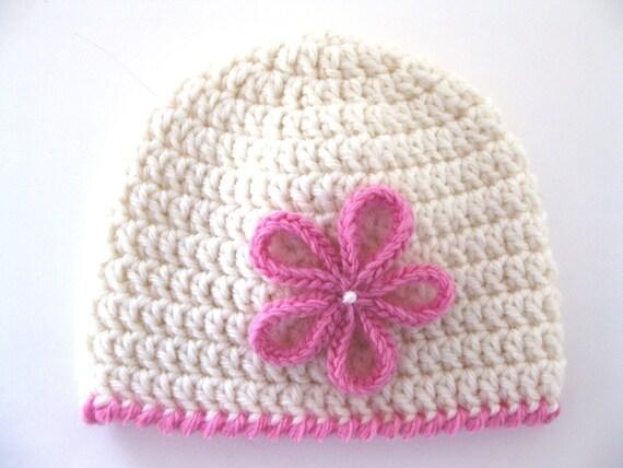 Pattern Preemie Crochet Hat Flower Pdf Girl Baby Edging White Etsy
