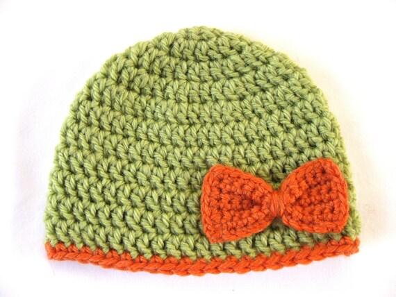 Preemie Hat Pattern Bow Crochet Baby Beanie Pdf Flower Girl Etsy