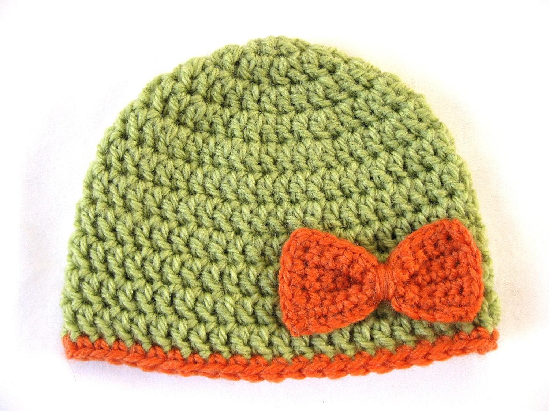 Preemie Hat Pattern Bow Crochet baby beanie pdf flower girl edge ...