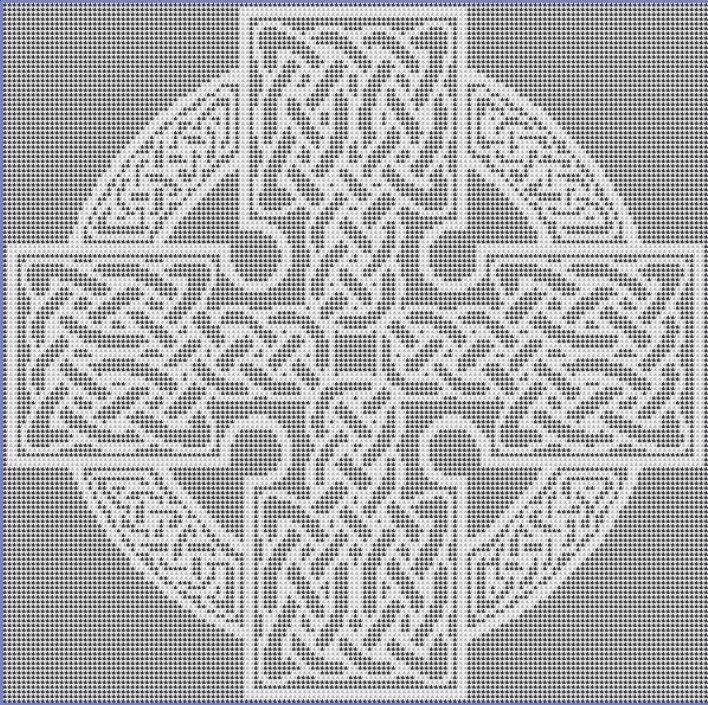 Square Celtic Cross Filet Crochet Pattern Etsy