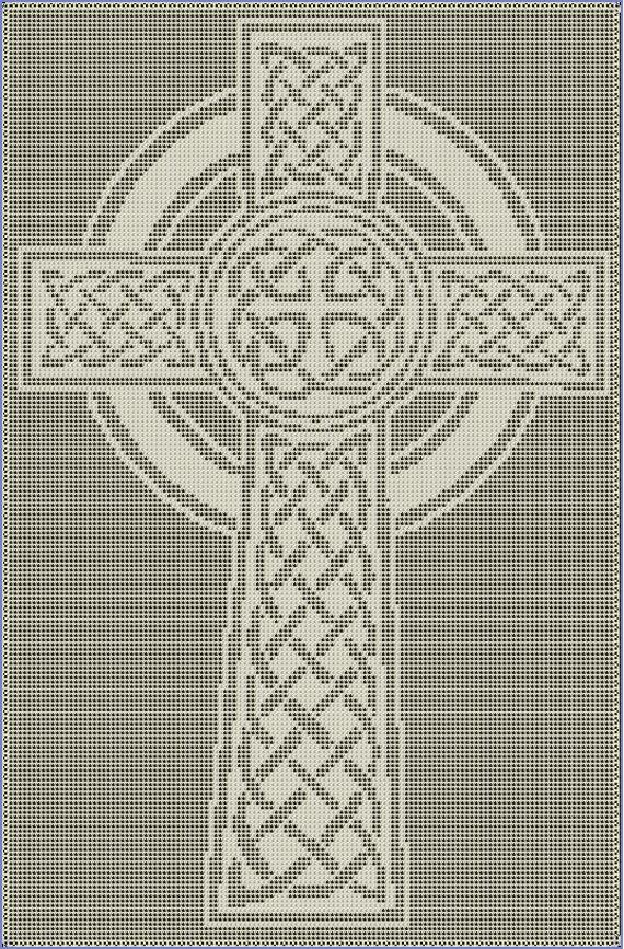 Celtic Cross Filet Crochet Pattern Etsy