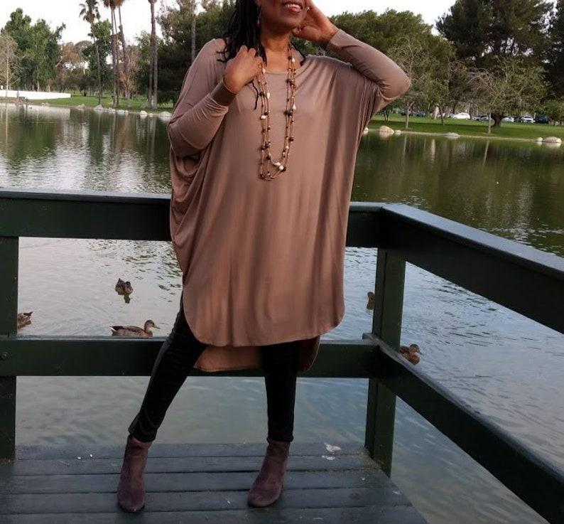 b5acfa733023 Shirttail T-Shirt Dress Off The Shoulder Bat-Wing Midi Knit