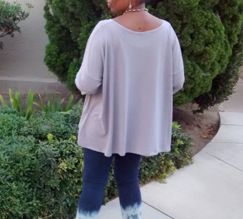 Long Sleeve Swing Sweater ~ Slouchy Pull Over Lightweight Sweater ~  Long Sleeve Over Size Swing Sweater ~ All Sizes  Colors