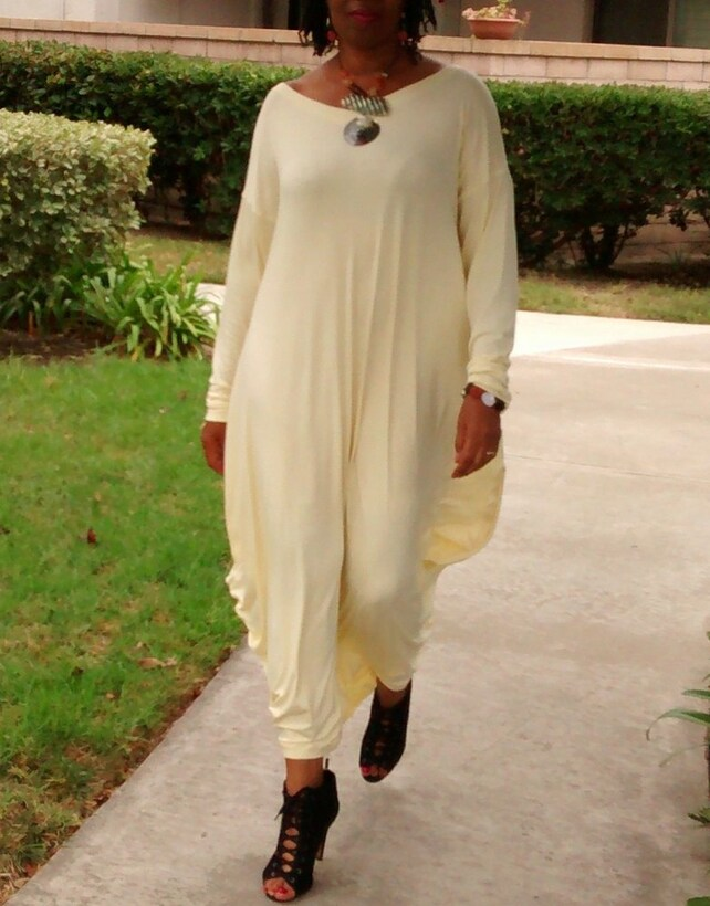 Long Sleeve Maxi Dress V Neck Jersey Cocoon Maxi Dress Loose