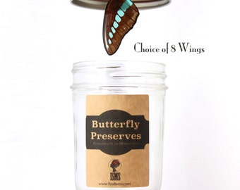 Perfect Gift Necklace - Real Butterfly Wing - Choice of 8 Wings - with Gift Jar Packaging
