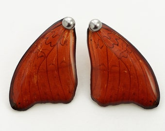 Real Cymothoe sangaris fore Wing Earrings With Options