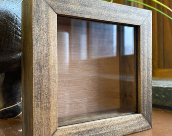 Shadow Box Frame Disabled Veteran Made Choice of size and finish