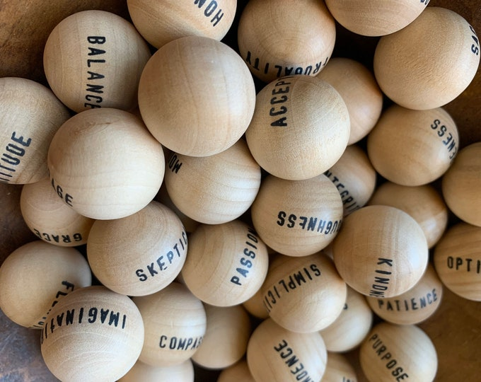 Virtue Balls Game Awareness Tool and Conversation Starter - Eudaemonia - Virtues