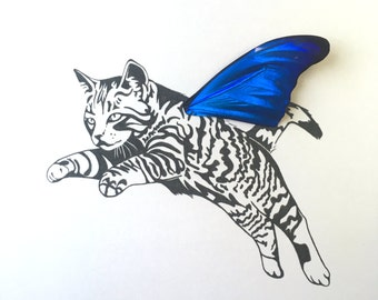Tabby Real Butterfly Wing Framed Art