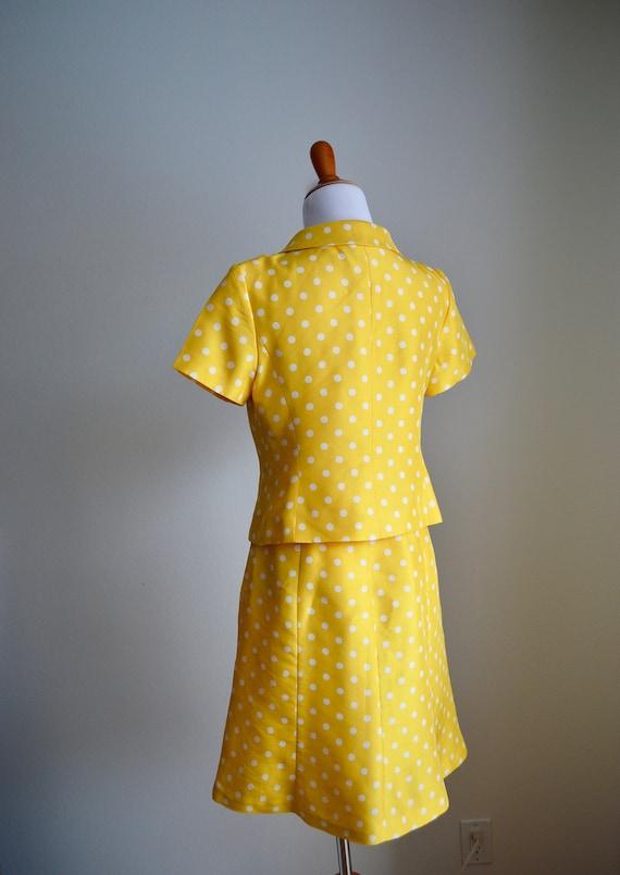 Two-piece Silk Polka Dot Skirt Set, Small - image 6