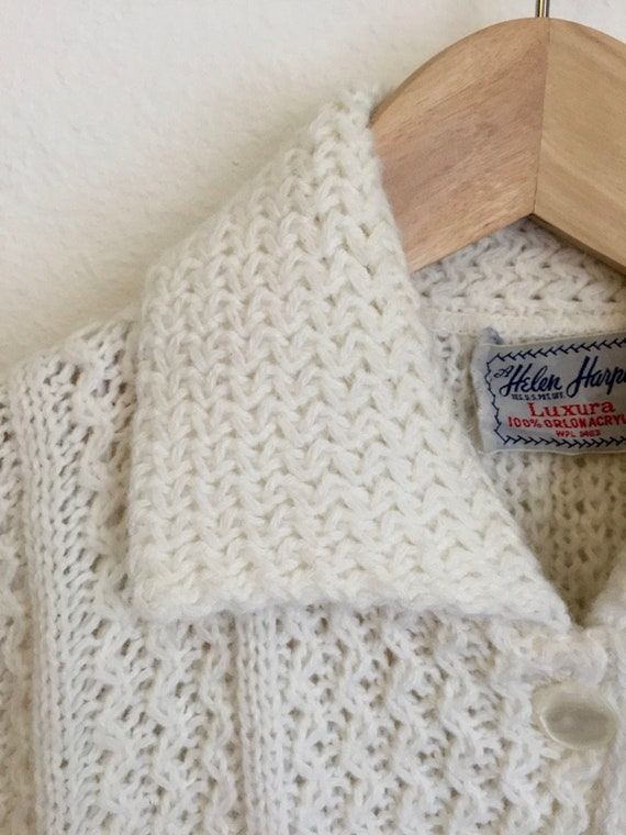 1950s/1960s Cardigan with Peter Pan Collar in Whit