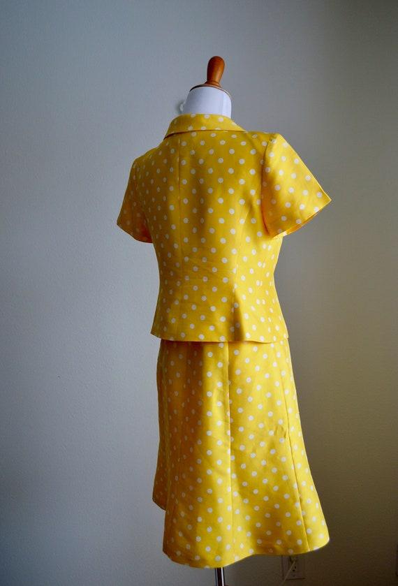 Two-piece Silk Polka Dot Skirt Set, Small - image 7