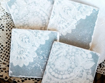 French Country Cottage- Romantic Decor, Cottage Decor, Shabby Chic Decor, Country Cottage, Coaster, Vintage, French Country, Decor, Lace