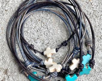 Cross Bracelet- Christian Jewelry, Christian Bracelet, Christian Gift, Cross Jewelry, Adjustable, Leather, Men, Women, Child, Faith Gift