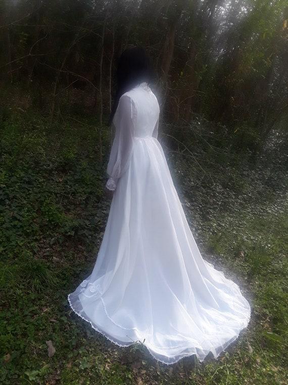 Vintage 1970's Wedding Dress
