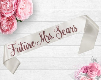 bridal shower sash future mrs sash bride to be sash bachelorette sash satin bride sash personalized sash bride gift bridal shower