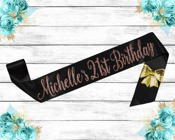 21 Birthday Sash Birthday Sash Best Friends Birthday Birthday Sash 21 21st Birthday Glitter Birthday Sash Personalized Glitter Sash