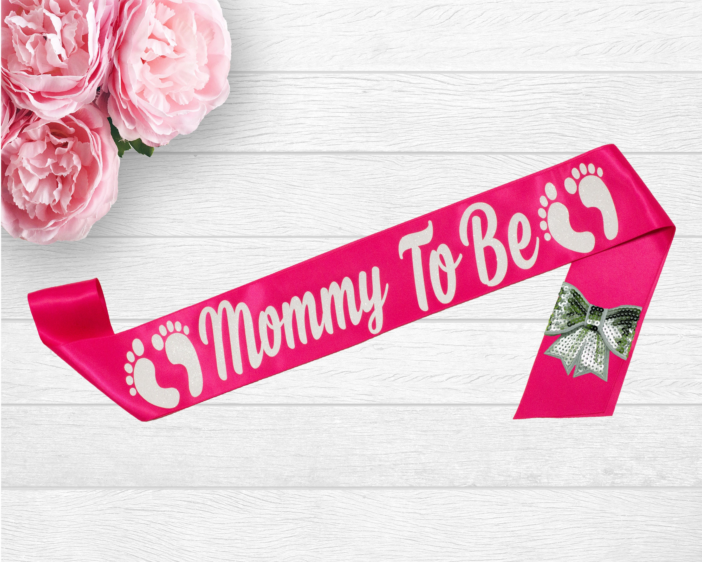 Mommy To Be Sash Its A Girl Baby Shower Sash Baby Shower   Etsy