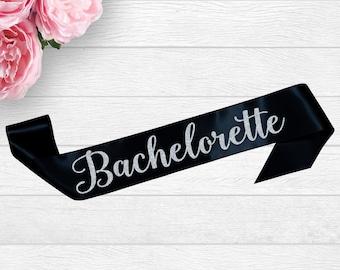 Bachelorette Sash, Bridal Shower Sash, Satin Custom Bride Sash, Bridal Sash, Bride To Be Sash, Bachelorette Party