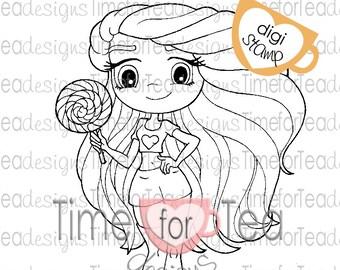 Lollipop Girl Digi Stamp