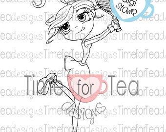 Anyone For Tennis Digital Stamp