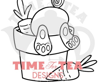Some Bunny Misses You Digital Stamp Papercraft Line Drawing Illustration, Paper Craft, Adult Colouring, card making, Easter, Bunnies