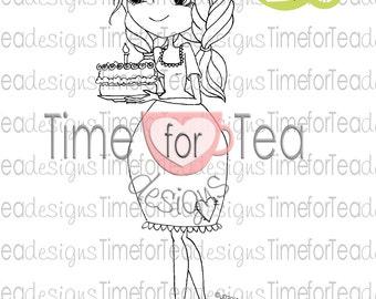 Happy Birthday Digital Stamp