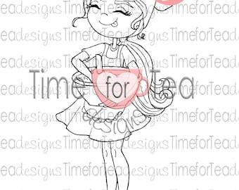 Time For Tea Designs Baker Girl Digi Stamp