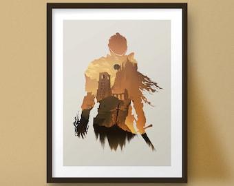 Souls Art Print Game Poster Knight Design