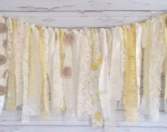 Vintage Yellow Shabby Banner