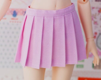 BJD Pleated Skirt - Slim MSD Minifee or SD - Solid Light Pink