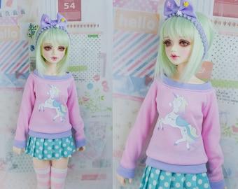 Slim MSD or SD BJD Sweater - Starry Unicorn