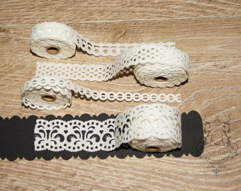 Paper Ribbon adhesive, lace, lace