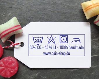 Timbre lavable, timbres de textile, peinte à la main