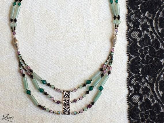 99336a5adf03 Esmeralda amatista plata étnico capas collar de piedras