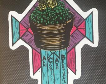 ACAB Thimble Cactus Sticker