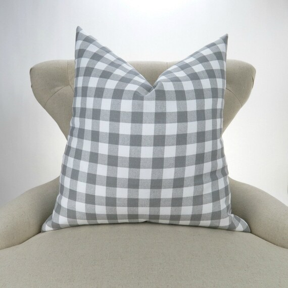 Gingham pillow cover | Etsy