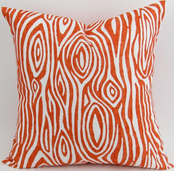 Wood Grain Floor Pillow Cover 40x40 Tangerine Tangelo Orange Cool 28x28 Pillow Cover