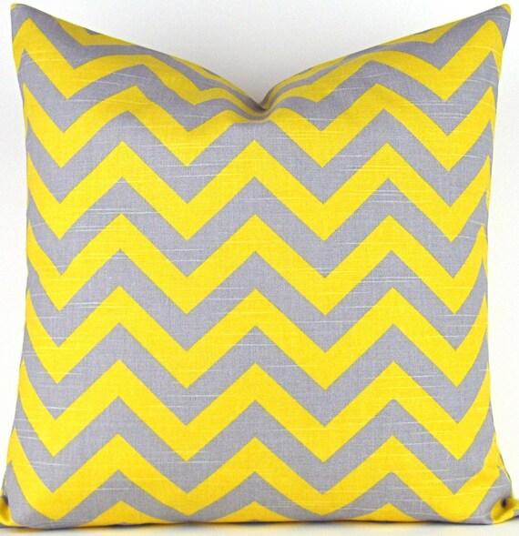 Decorative Yellow Chevron Pillow Cover