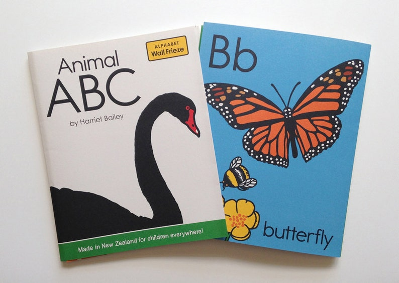 Animal ABC wall frieze fun and colourful for children's image 0