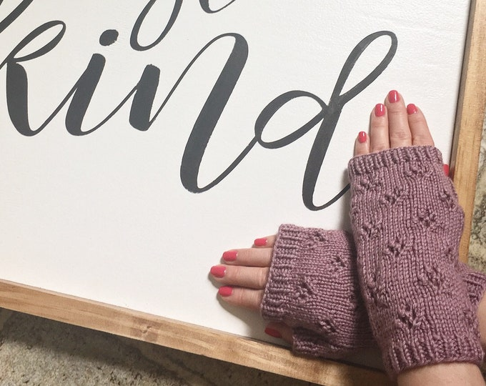Sweetheart Fingerless Mitts, Knitted Mitts, Fingerless Gloves