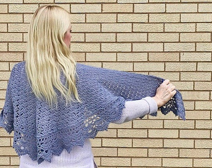 Serenity Shawl, Crocheted Shawl