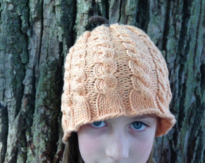 Cable Knit Pumpkin Hat