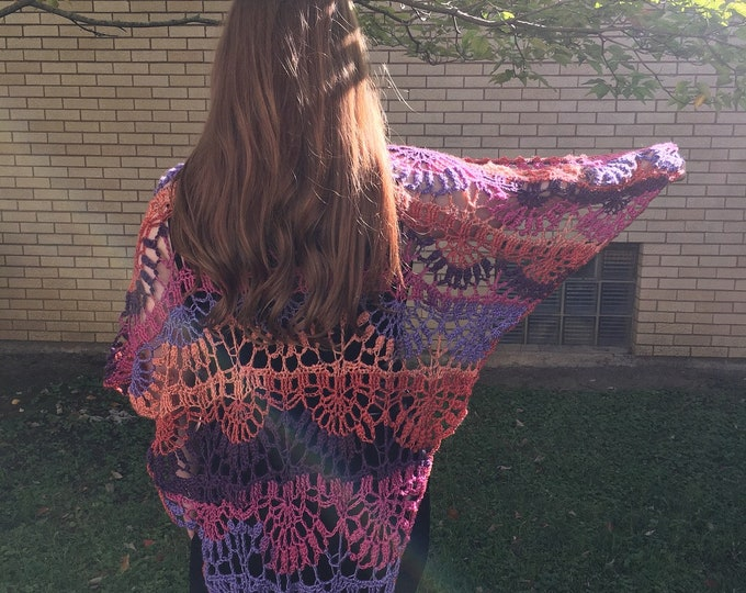 Happy Vibes Crocheted Shawl